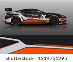 car wrap design vector  truck... | Shutterstock .eps vector #1314751295