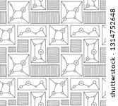 seamless pattern. black and... | Shutterstock . vector #1314752648