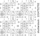 seamless pattern. black and... | Shutterstock . vector #1314752702