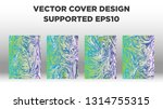 mixture of acrylic paints.... | Shutterstock .eps vector #1314755315