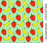 strawberry and banana seamless... | Shutterstock .eps vector #1314767462