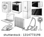 household appliances collection ... | Shutterstock .eps vector #1314773198