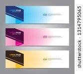 vector abstract web banner... | Shutterstock .eps vector #1314795065