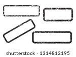 set of empty grunge stamp ...   Shutterstock .eps vector #1314812195