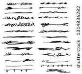 collection of hand drawn... | Shutterstock .eps vector #1314836282