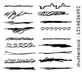 collection of hand drawn... | Shutterstock .eps vector #1314836492