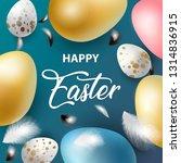 happy easter holiday design... | Shutterstock .eps vector #1314836915