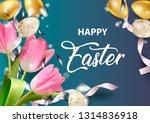 happy easter holiday design... | Shutterstock .eps vector #1314836918