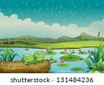 illustration of the three frogs ... | Shutterstock . vector #131484236