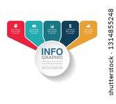 vector infographic template for ...   Shutterstock .eps vector #1314855248