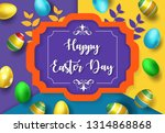 happy easter day background...   Shutterstock .eps vector #1314868868
