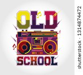 colorful old music design art | Shutterstock .eps vector #1314874472