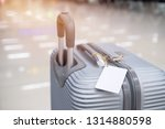 luggage holder tag blank label... | Shutterstock . vector #1314880598