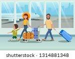 happy family boarding to... | Shutterstock .eps vector #1314881348