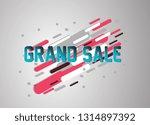grand sale  vector confetti ... | Shutterstock .eps vector #1314897392