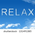 clouds forming the word relax... | Shutterstock . vector #131491385
