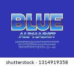 vector glossy blue font. chic... | Shutterstock .eps vector #1314919358