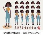 afro american teenage girl... | Shutterstock .eps vector #1314930692