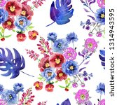 seamless pattern with flowers... | Shutterstock . vector #1314943595