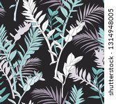 seamless tropical pattern ... | Shutterstock .eps vector #1314948005