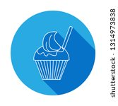 icecream in a glass icon with... | Shutterstock . vector #1314973838