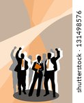 business poster or flyer... | Shutterstock . vector #131498576