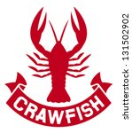 Crawfish Label  Crayfish Icon ...