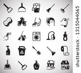 cleaning icons set on white... | Shutterstock .eps vector #1315044065