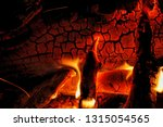 burning log of wood close up as ...   Shutterstock . vector #1315054565