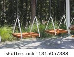 swing in the garden outside | Shutterstock . vector #1315057388