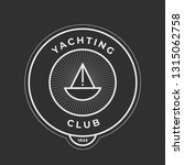 yachting club logo set.... | Shutterstock .eps vector #1315062758