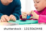 toddler girl in child... | Shutterstock . vector #1315063448