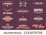 vintage retro vector logo for... | Shutterstock .eps vector #1315070738