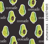 seamless pattern with happy... | Shutterstock .eps vector #1315074845