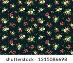 elegant floral pattern in small ... | Shutterstock .eps vector #1315086698