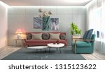 interior of the living room. 3d ... | Shutterstock . vector #1315123622