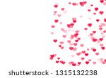 valentine day pink hearts on... | Shutterstock . vector #1315132238