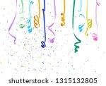 colorful confetti and... | Shutterstock . vector #1315132805