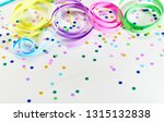 colorful serpentines curled on... | Shutterstock . vector #1315132838