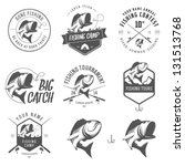 set of vintage fishing labels ... | Shutterstock .eps vector #131513768