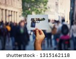 armed attack  crime and... | Shutterstock . vector #1315162118