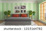 bedroom interior. 3d... | Shutterstock . vector #1315164782