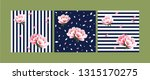 set of seamless floral patterns ...   Shutterstock .eps vector #1315170275