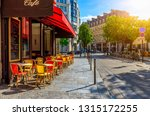 cozy street with tables of cafe ... | Shutterstock . vector #1315172255