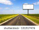 billboard on country road | Shutterstock . vector #131517476