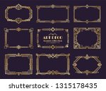 art deco borders set. golden... | Shutterstock .eps vector #1315178435