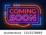 neon coming soon sign. film... | Shutterstock .eps vector #1315178885