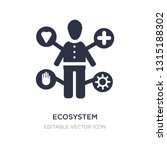 ecosystem icon on white... | Shutterstock .eps vector #1315188302