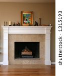 New fireplace - stock photo