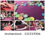Collage Of Casino Imagery With...